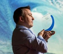 No repro fee 21-11-2017 Picture shows Proinsias O'Tuama, Ballynamona Clean Coasts group, Co Cork who won Outstanding Award 2017; at An Taisce's Ocean Hero Awards 2017.Pic:Naoise Culhane-no fee