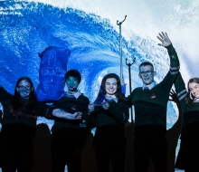 No repro fee 21-11-2017 Picture shows from left Alison Duggan,15;Conor Bennett,15;Áine Lane,17;Ross Shanahan,17;Katie Walsh,16; from St Coleman's Community College, Midleton, Co Cork who won School of the Year at An Taisce's Ocean Hero Awards 2017.Pic:Naoise Culhane-no fee